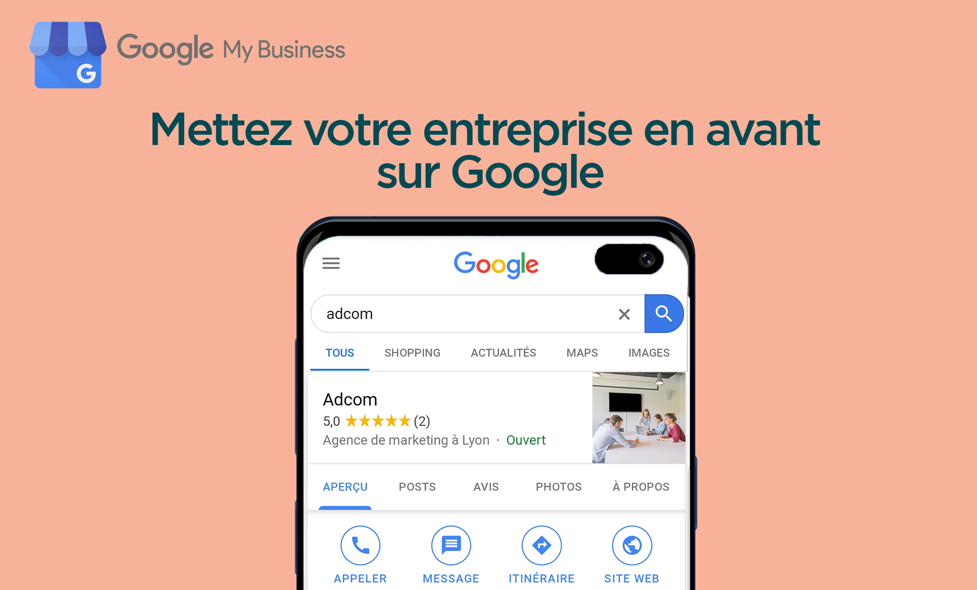Google my business et trafic