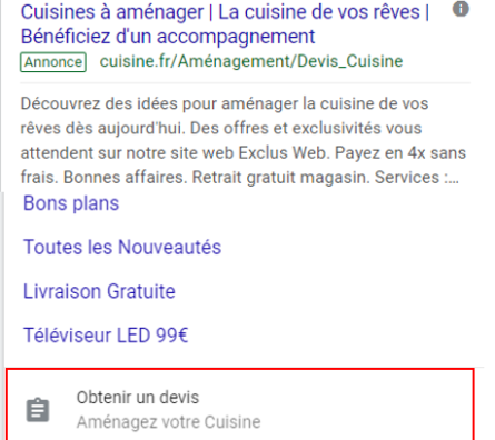 « Lead Form Extension » : la nouvelle extension Google Ads